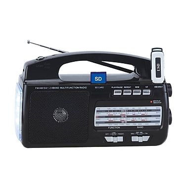 Supersonic® SC-1081 4 Band AM/FM/SW1-2 Portable Radio