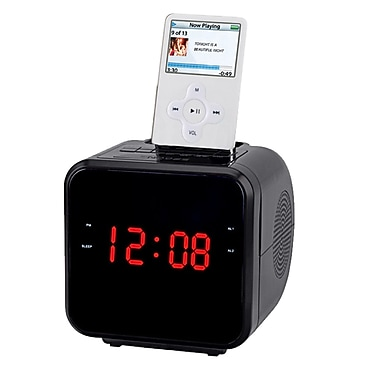 Supersonic® IQ-1303 1.2in. IPod/IPhone Docking Station With AM/FM Radio and Alarm Clock