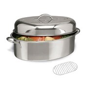 Cuisine Select Top Roast Stainless Steel Oval Roaster Set