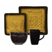 Gibson® Elite Suniva Square Dinnerware Set, 16 Piece, Brown