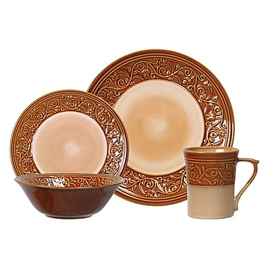 Gibson® Elite Villa Adriana Dinnerware Set, 16 Piece, Cream