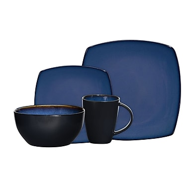Gibson® Home Soho Lounge Dinnerware Set, 16 Piece, Blue
