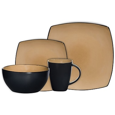 Gibson® Home Soho Lounge Dinnerware Set, 16 Piece, Taupe
