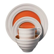 Gibson® Isaac Mizrahi Caribbean Color Dinnerware Set, 16 Piece, Orange