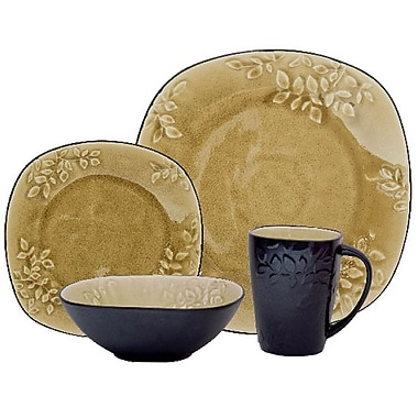 Gibson® Casa Granada Dinnerware Set, 16 Piece, Yellow