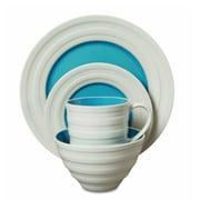 Gibson® Isaac Mizrahi Caribbean Color Dinnerware Set, 16 Piece, Turquoise