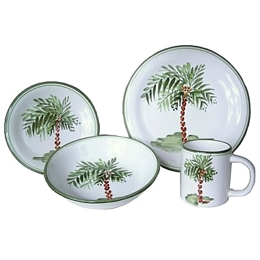 Gibson® Palm Court Dinnerware Set, 4 Piece, Multi