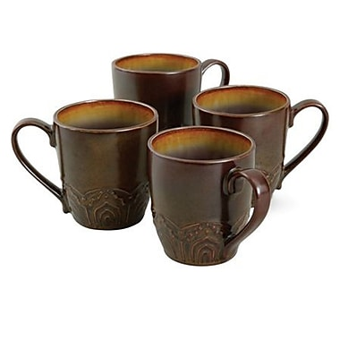 Gibson® Maison Morocco Mug Set, Purple, 14 oz., 4/Pack