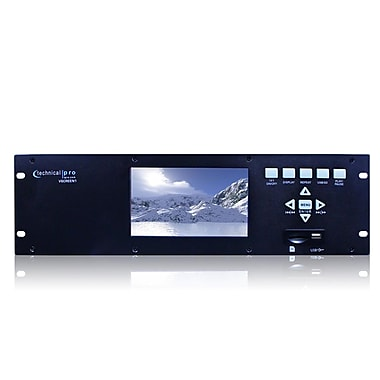 Technical Pro VSCREEN1 19in. Rack Mountable Video Monitor W/USB/SD Card Inputs, Black