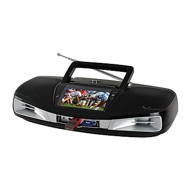 Supersonic® SC-1393 Portable Audio System W/AM/FM/SW Radio, Black