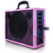 Technical Pro WASP300 6 1/2 Portable PA System With Rechargeable Battery, Pink