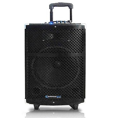 Technical Pro WASP900U 10in. Portable PA System W/Rechargeable Battery/Wireless VHF Headset Microphone