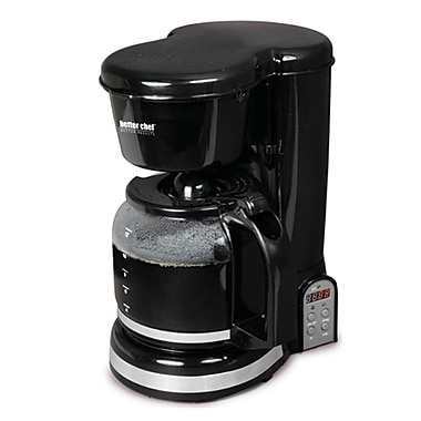 Better Chef® 12-Cup Digital Programmable Coffeemaker, Black