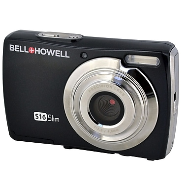 Bell & Howell® S16 16MP Ultra Slim Digital Camera, Black
