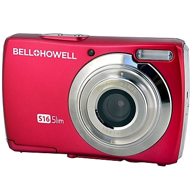 Bell & Howell® S16 16MP Ultra Slim Digital Camera, Red