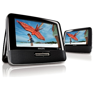 Philips PD7012/37 7in. Dual Widescreen Portable DVD Player