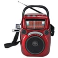Quantum FX CS-146 Karaoke Speaker W/AM/FM/SW1-9 11 Band Radio, Red