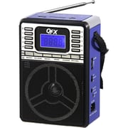QFX® CS-89 Portable PA System With USB/SD and FM Radio, Blue