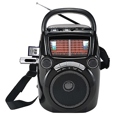Quantum FX CS-146 Karaoke Speakers W/AM/FM/SW1-9 11 Band Radio