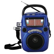 Quantum FX CS-146 Karaoke Speaker W/AM/FM/SW1-9 11 Band Radio, Blue