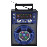 Quantum FX CS-143 Karaoke Multimedia Speaker W/AM/FM/SW1-2 Band Radio, Blue