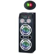 Quantum FX SBX-410201BT Speaker W/Built-In Amplifier & Bluetooth/Laser Light, Black