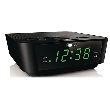 Philips AJ3116M/37 Digital Tuning Clock Radio, Black