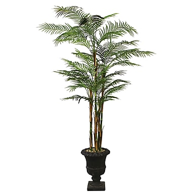 Laura Ashley 8' Silk Areca Palm Tree in a Decorative Planter