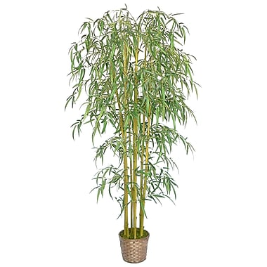 Laura Ashley 6ft Silk Bamboo Tree with Wicker Basket Planter