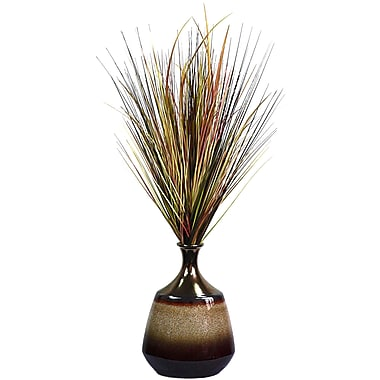 Laura Ashley Onion Grass in a Reactive Glaze Ceramic Planter