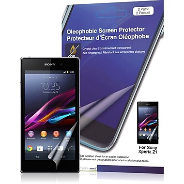 Green Onions Supply® Crystal Oleophobi Screen Protector For Sony Xperia z1, Crystal Clear