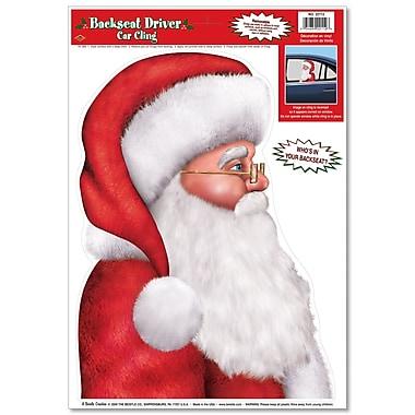 Autocollants « Père Noël » pour fenêtre arrière de voiture, 12 x 17 po, paquet de 6