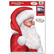 "Beistle 12"" x 17"" Santa Backseat Driver Car Cling, 7/Pack"