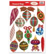 Beistle 12in. x 17in. Christmas Ornament Clings, 91/Pack