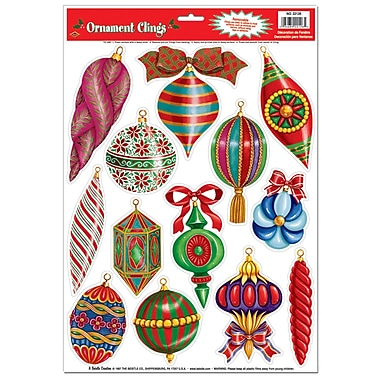 Christmas Ornament Clings, 12