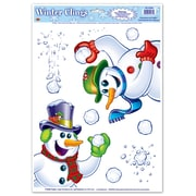 "Beistle 12"" x 17"" Snowman Clings, 14/Pack"
