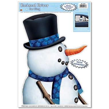 Snowman Backseat Driver Car Cling, 12