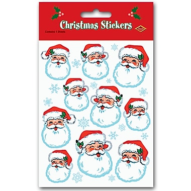Santa Face Stickers, 4-3/4
