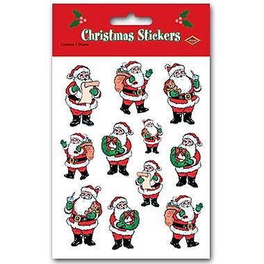 Santa Stickers, 4-3/4