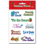 "Beistle 4 3/4"" x 7 1/2"" Christmas Expressions Sticker, 28/Pack"
