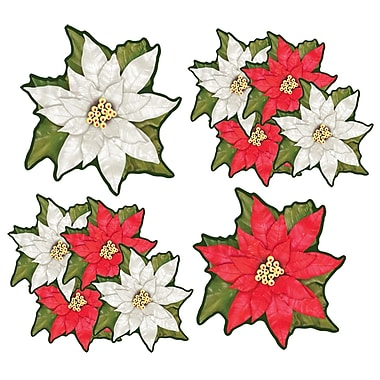 Mini Poinsettia Cutouts, 4-1/2