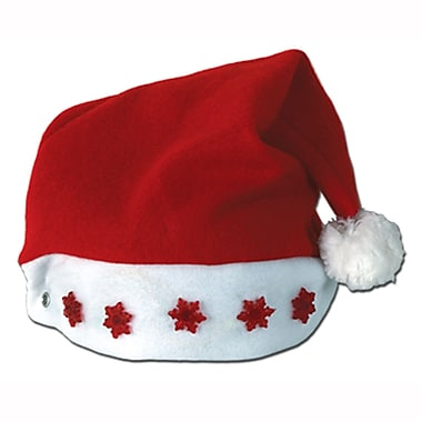 Red Light-Up Santa Hat, 4/Pack