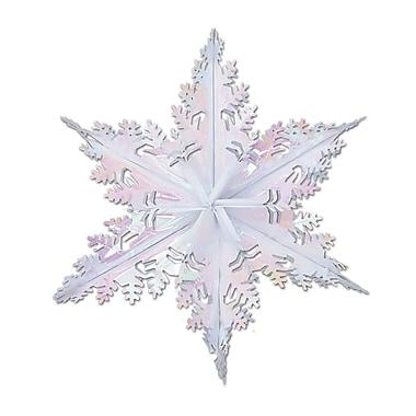 Flocon de neige transparent métallisé, 24 po, paquet de 3