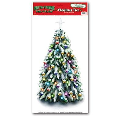 Décoration « Arbre de Noël » à assembler, 12 x 24 po, paquet de 3