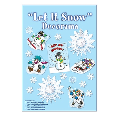 Let It Snow Decorama, 34/Pack