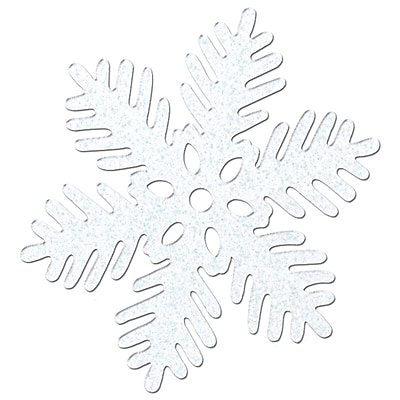 """""Beistle 8"""""""" Sparkle Snowflake, 5/Pack"""""" 1066574"