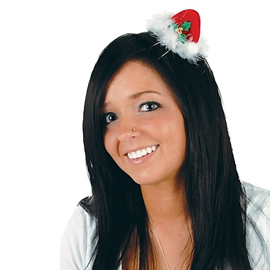 Santa Hat Hair Clip, 4/Pack