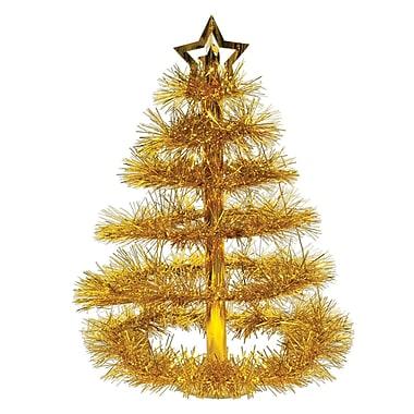 Milieu de table « Sapin de Noël doré », 16 po, paquet de 2