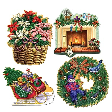 Packaged Christmas Holiday Cutouts, 16