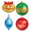 Beistle 13 1/2in. - 16 1/2in. Christmas Ornament Cutouts, 12/Pack
